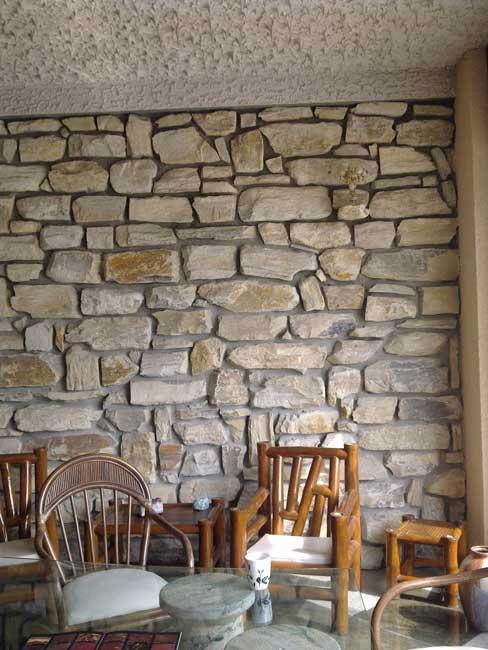 Juramauersteine. Wandgestaltung   Quarzitverblender Naturstein  Wandverkleidung