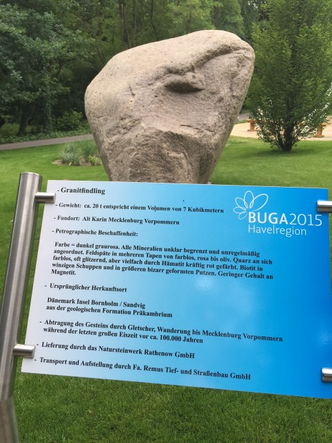 Buga2015 Havelregion Rathenow Findling
