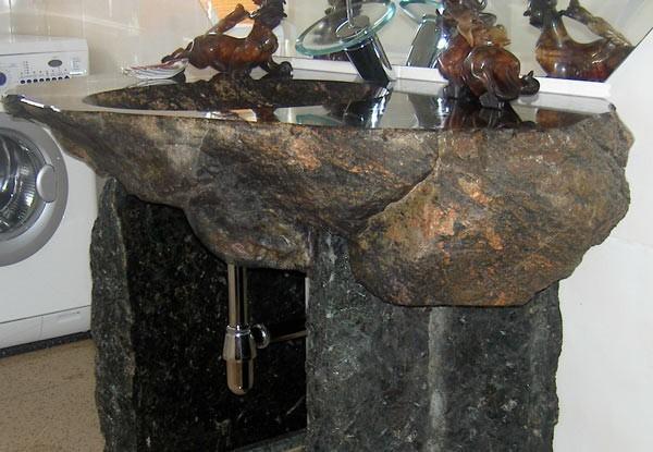 pin naturstein waschbecken findling waschtisch  ~ Waschbecken Naturstein Findling