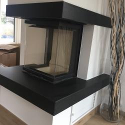 Modern in schwarz matt - Nero Assoluto satiniert